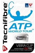 Balles de tennis accessoires -TECNIFIBRE VIBRA CLIP TRANSPARANT NOIR