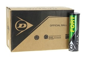 Balles de tennis accessoires -DUNLOP CARTON DUNLOP FORT X4 18 TUBES