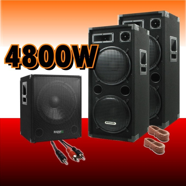 pack sono amplifi 4800w les 2 enceintes le caisson amplis enceintes ibiza sound pas cher. Black Bedroom Furniture Sets. Home Design Ideas