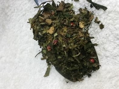 thé blanc à la pomme, framboise, rose