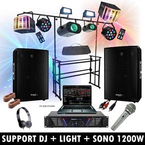pack sono dj mix 400w led light packs dj ibiza light. Black Bedroom Furniture Sets. Home Design Ideas