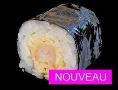 Maki Noir Crevette Tempura, Sauce CURRY