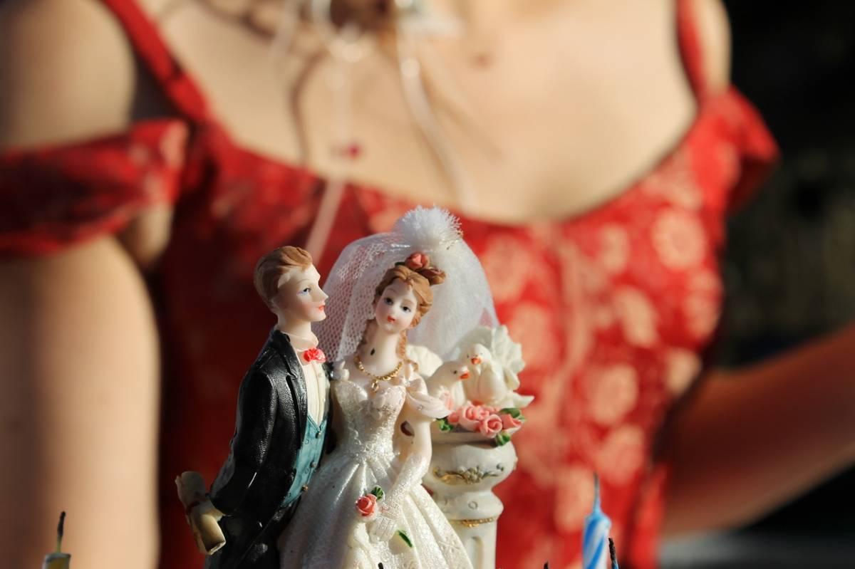 figurines gâteau de mariage