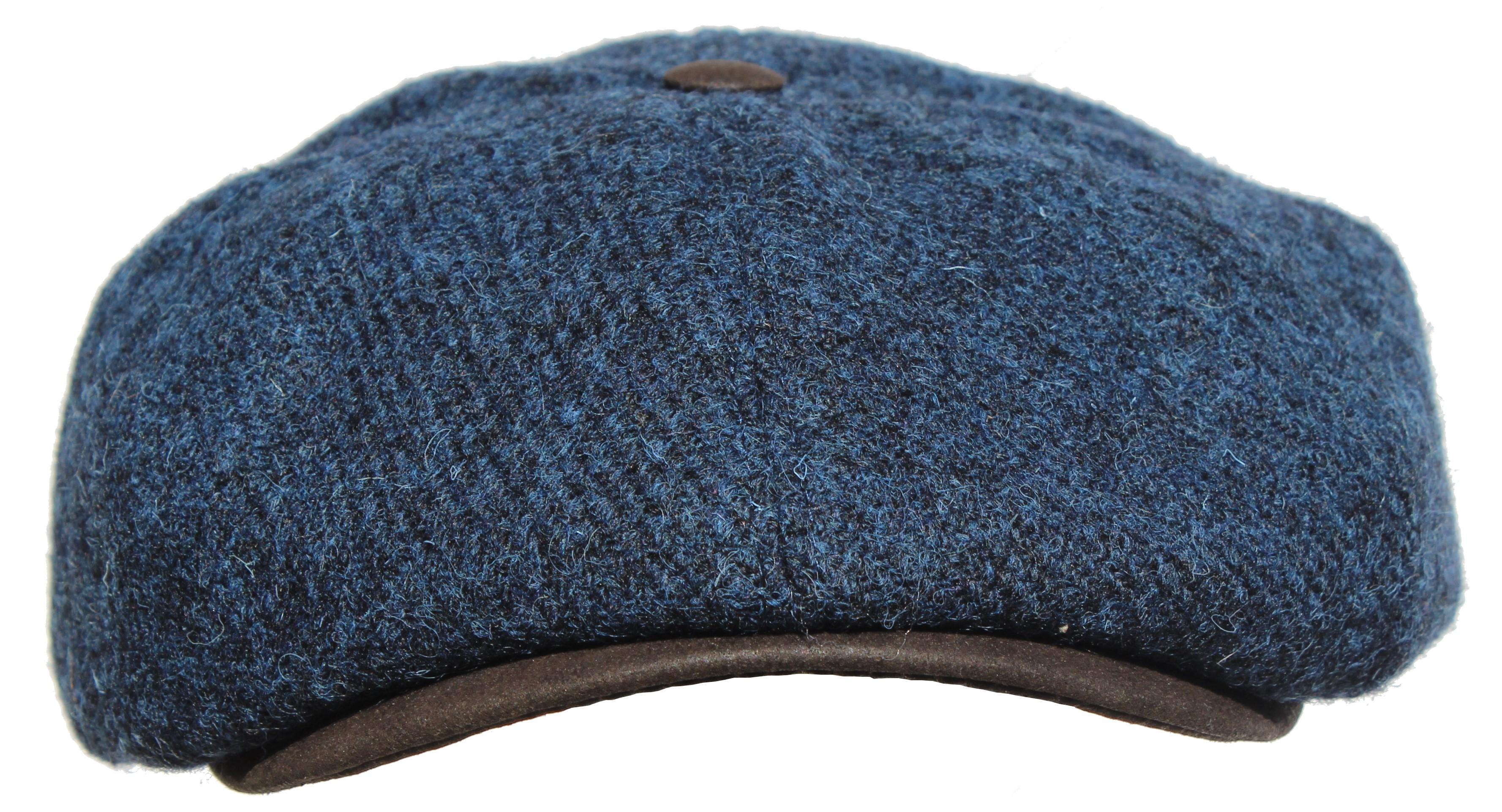 casquette laine Harry's Tweed - Ziggy Bleu