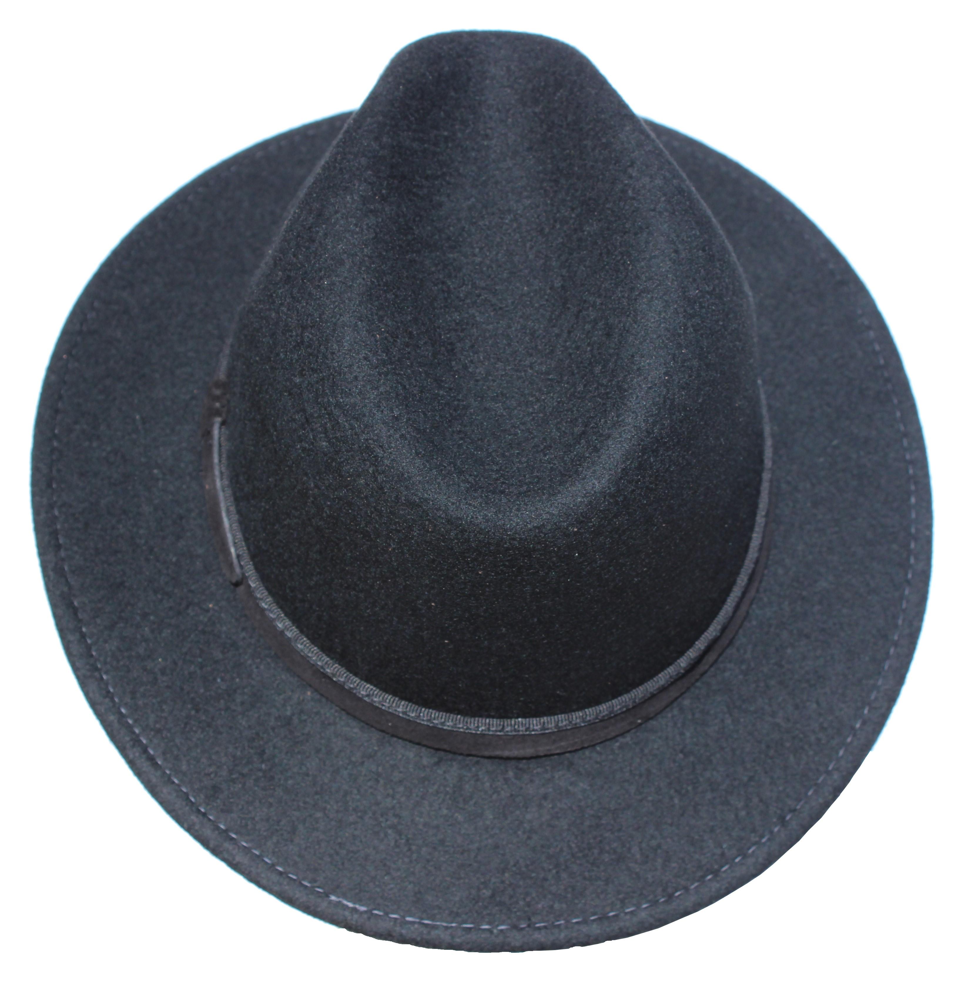 chapeau feutre 100% laine - Manco - made in Italie Noir