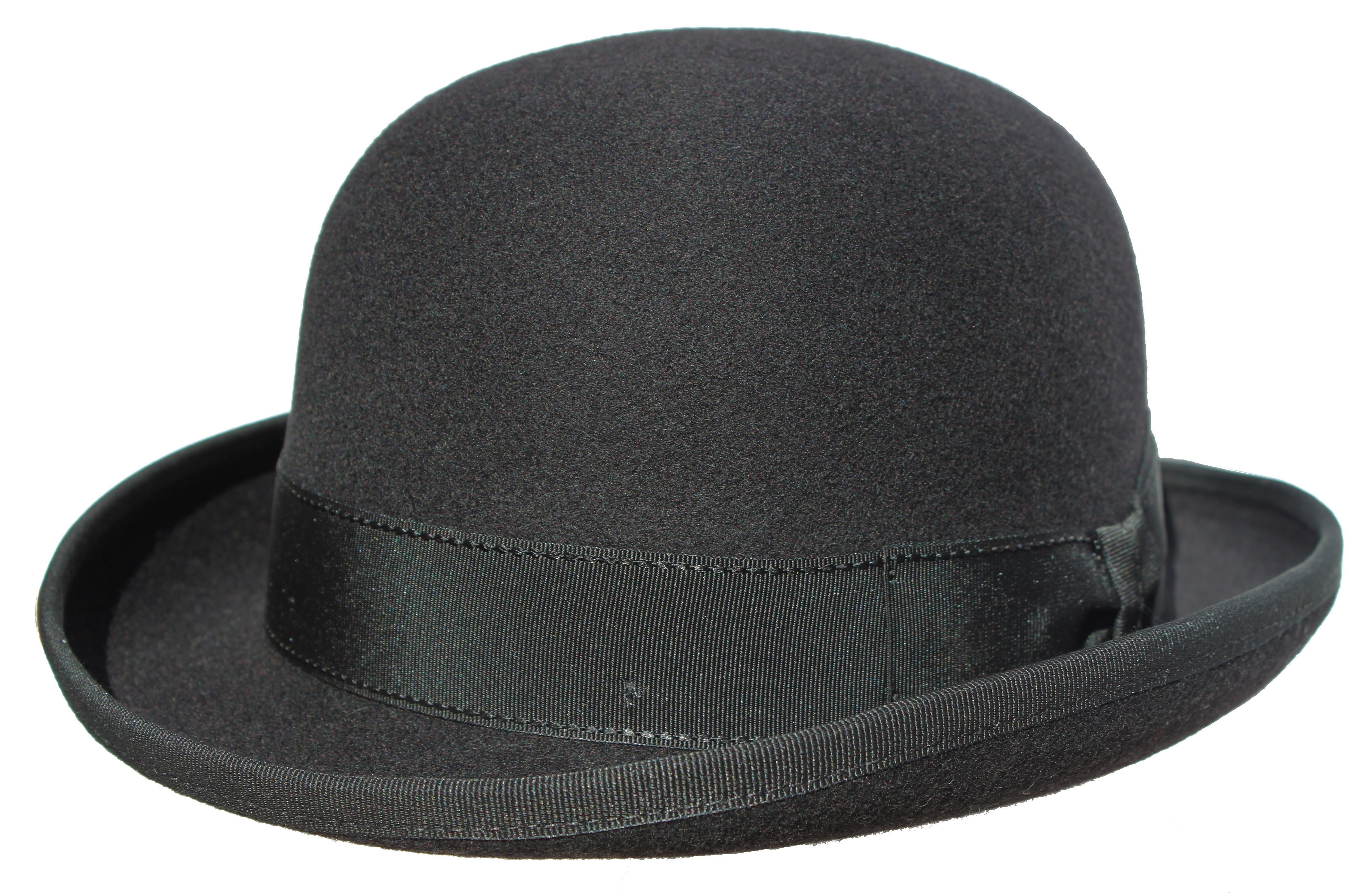 Chapeau feutre 100% laine - chapeau melon - John S Noir