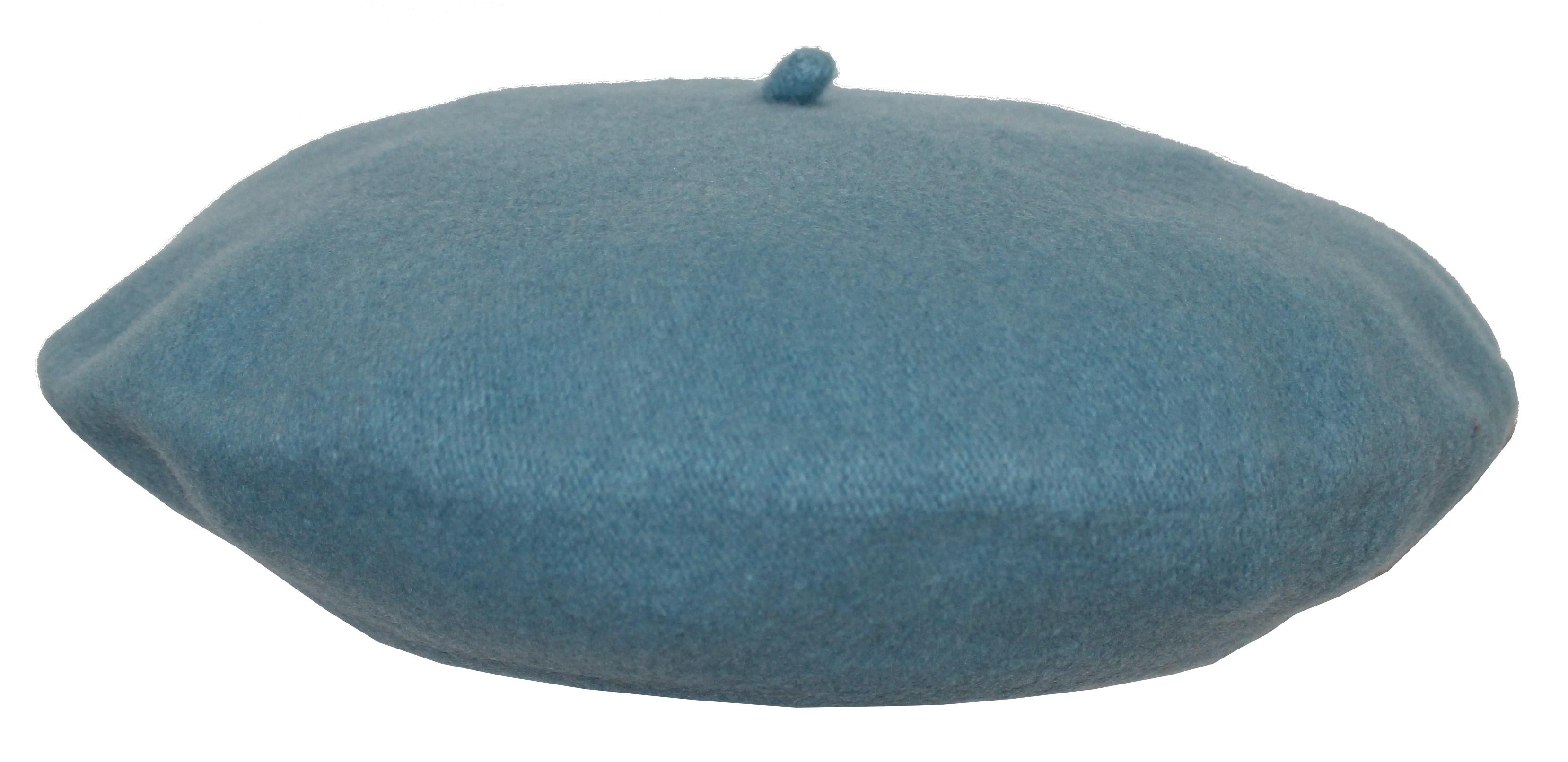 Béret 100% laine - flora super - ciel Bleu