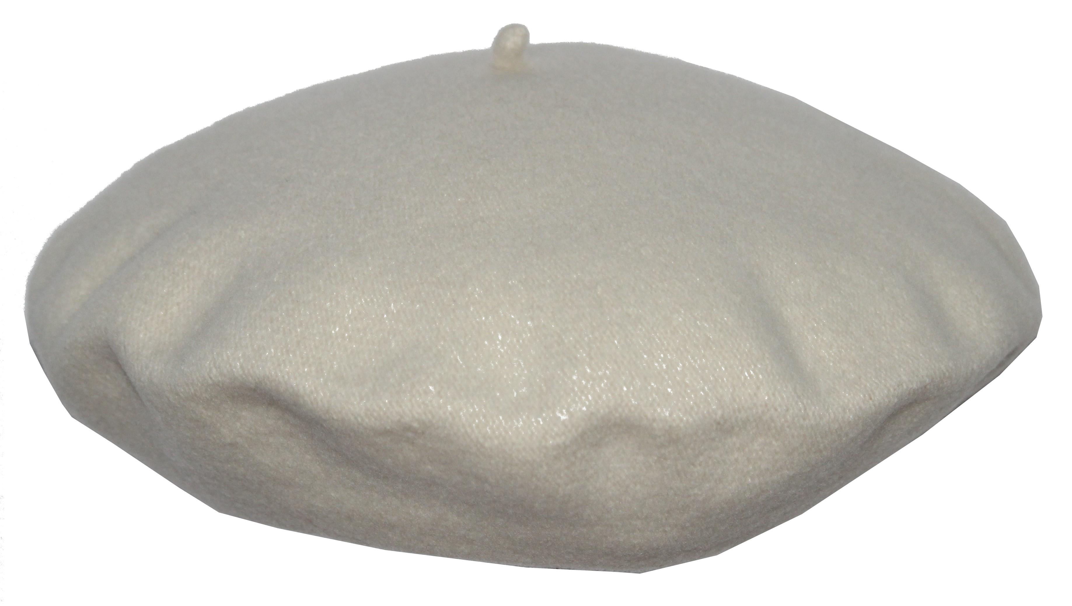 Béret 100% laine - flora super - blanc Blanc