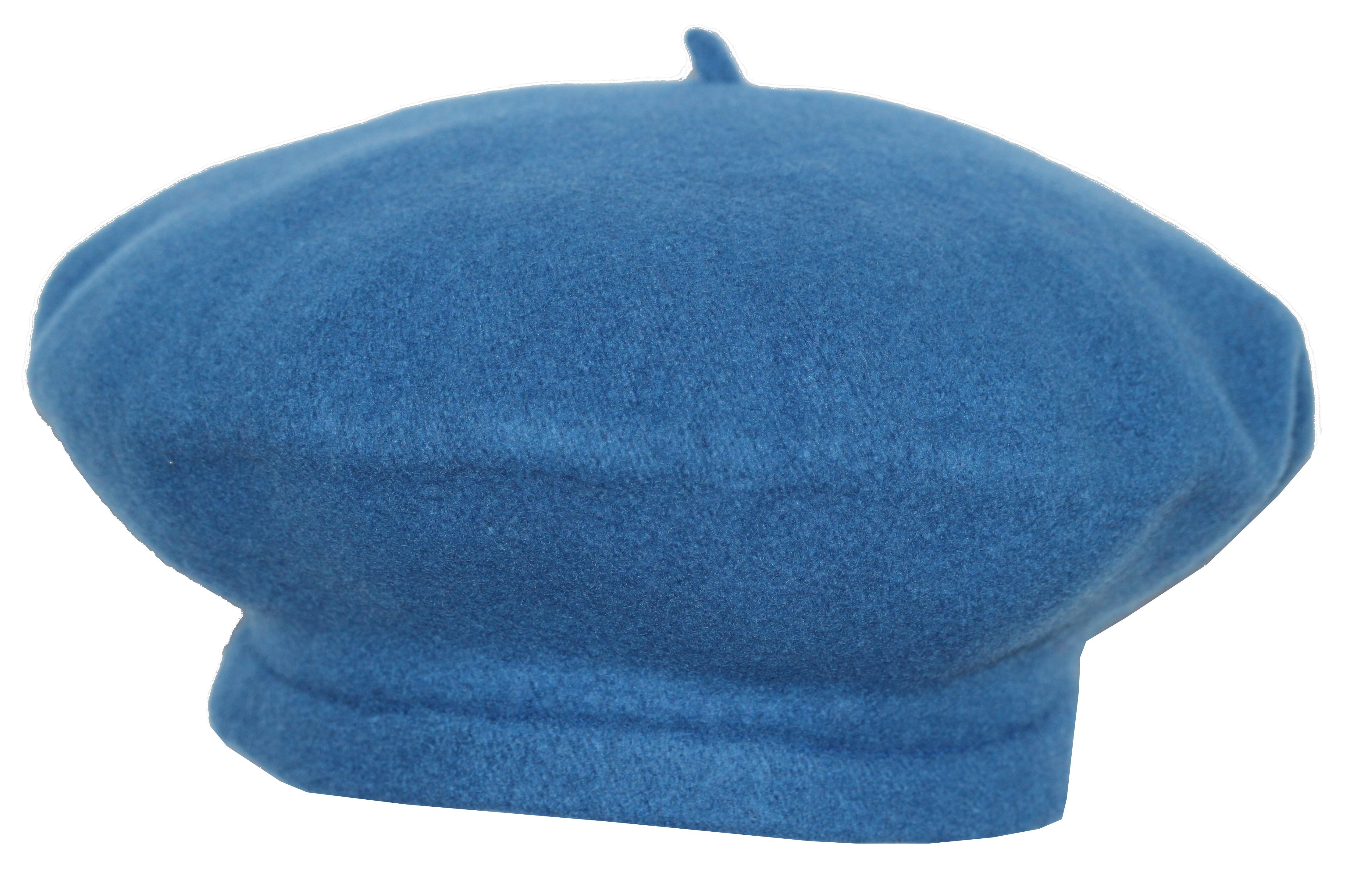 Béret 100% laine - flora super - bleu Bleu