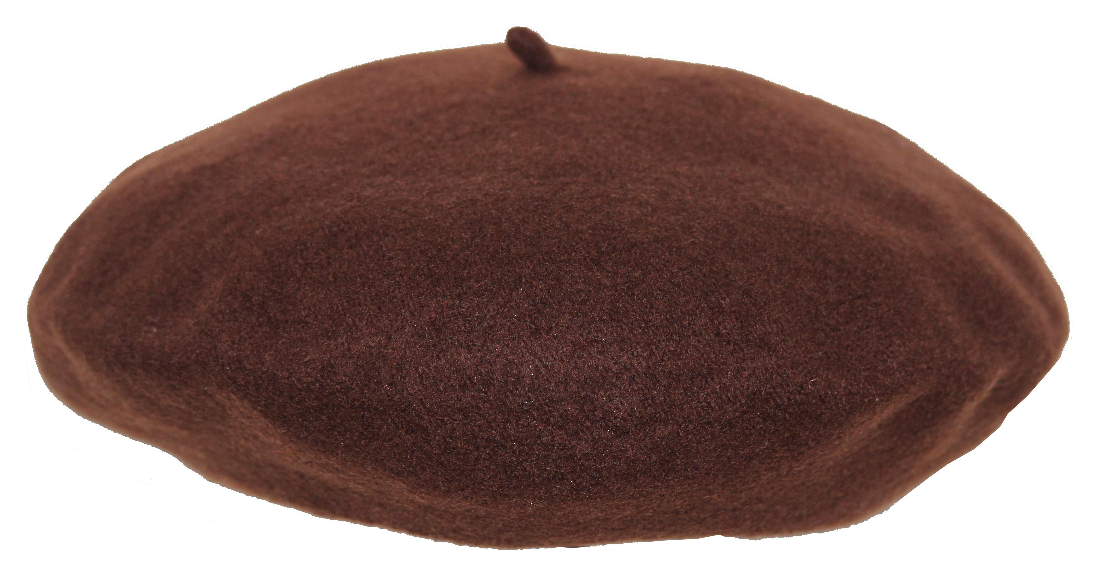 Béret 100% laine - flora super - chocolat Marron