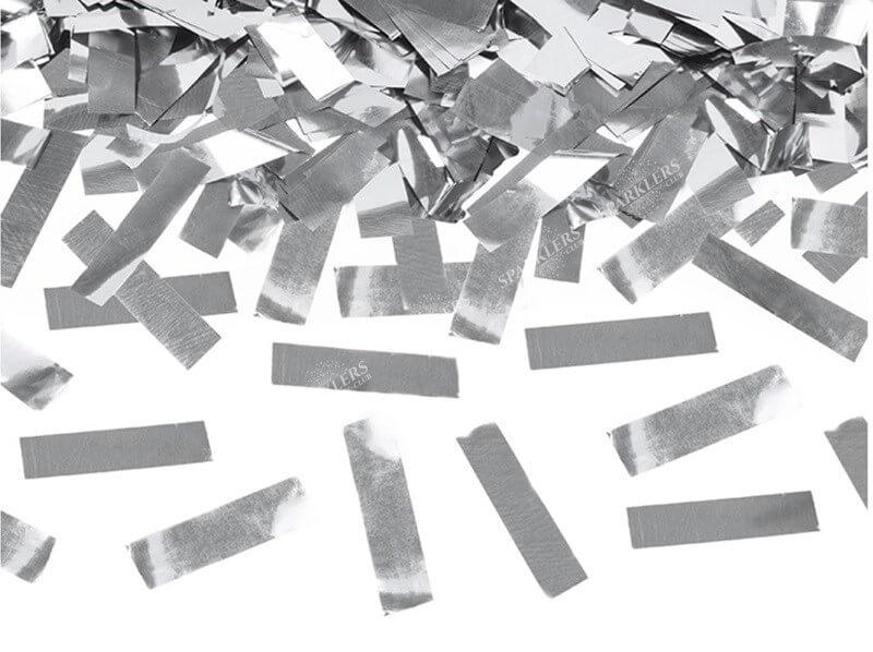 Canons à confettis 60 CM Silver