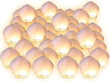 Lanterne volantes blanches (Multiple de 10)