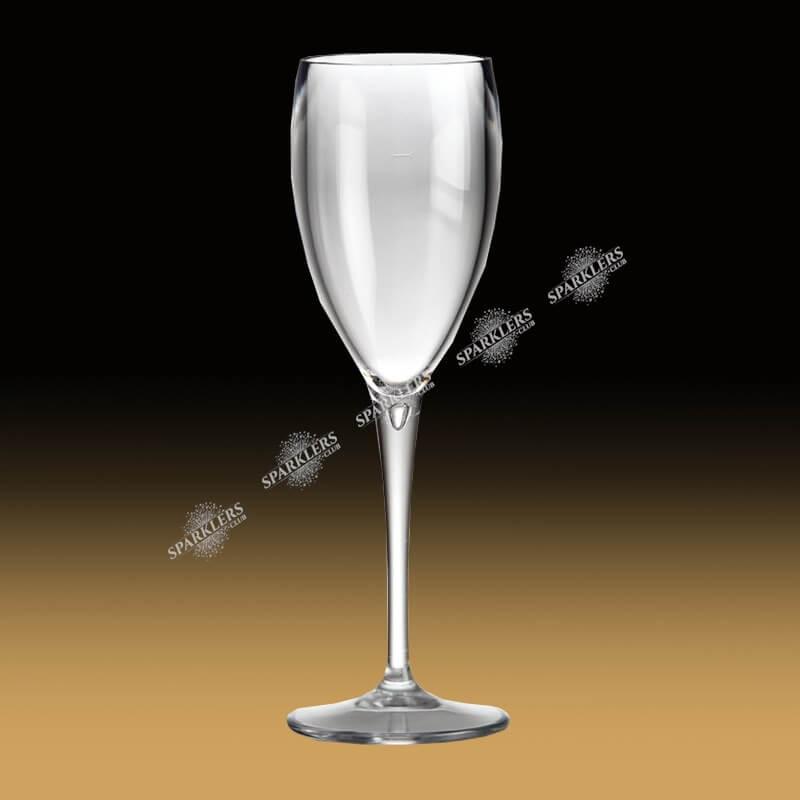 Flute à champagne transparentes