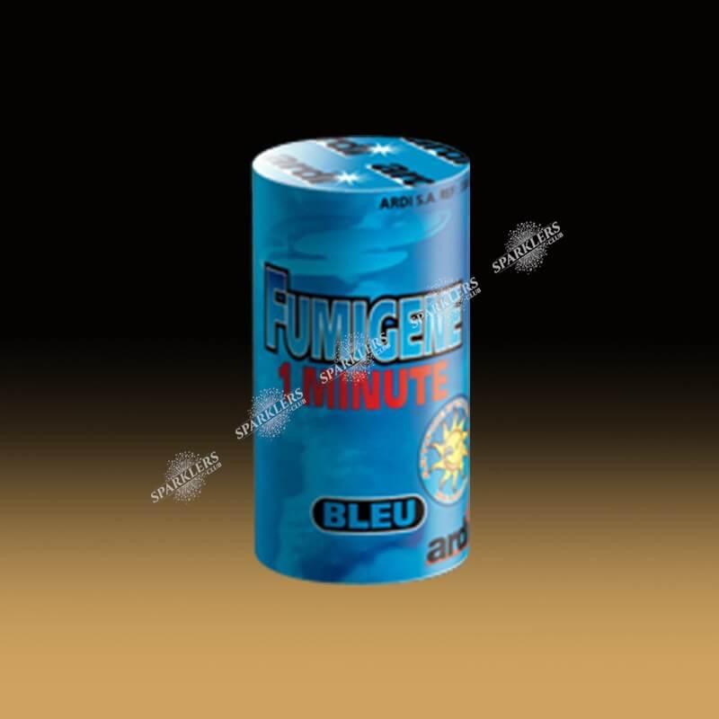 Fumigène en pot 1 minute Bleu (à poser au sol)