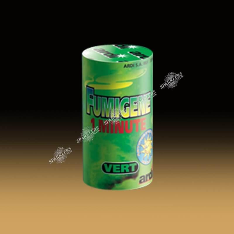 Fumigène en pot 1 minute vert (à poser au sol)