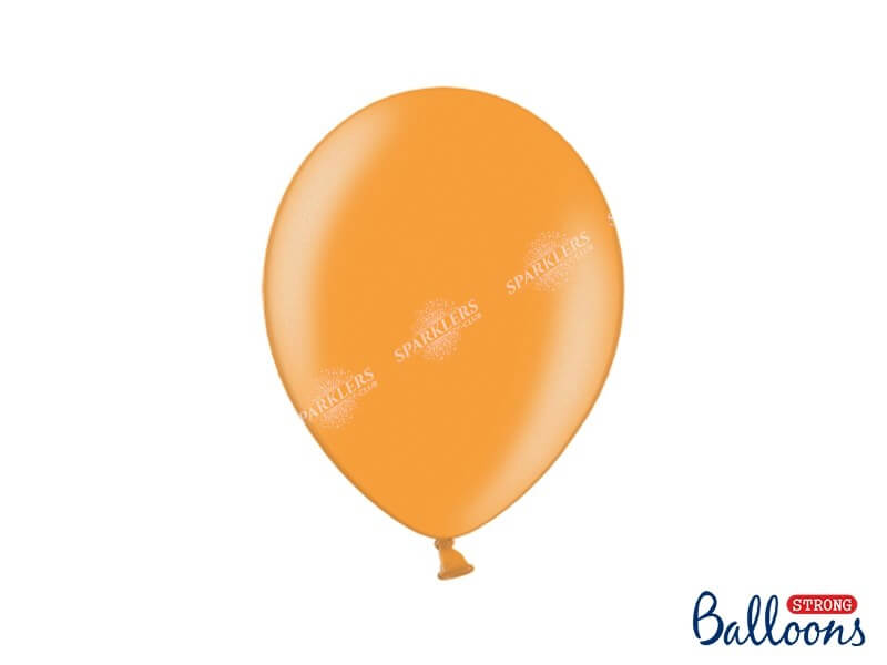 Lot de 100 Ballons Orange Métallique