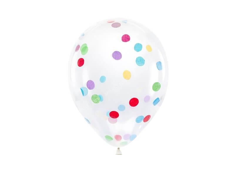 Lot de 6 Ballons Confettis
