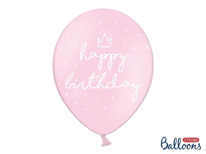 "Lot de 10 Ballons ""HAPPY BIRTHDAY"" Roses"