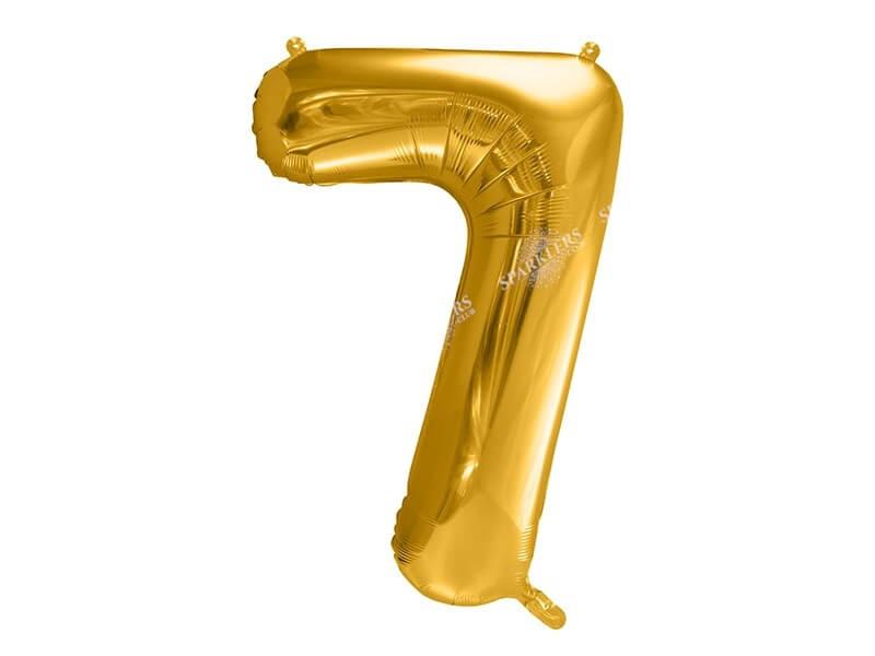 Ballon anniversaire chiffre 7 Or (gold) 86cm