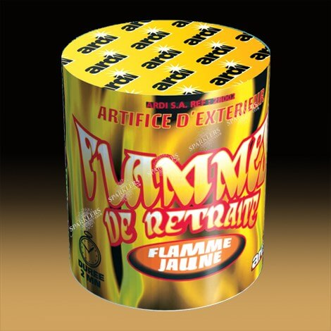 FLAMME DE RETRAITE JAUNE- Durée 2mn