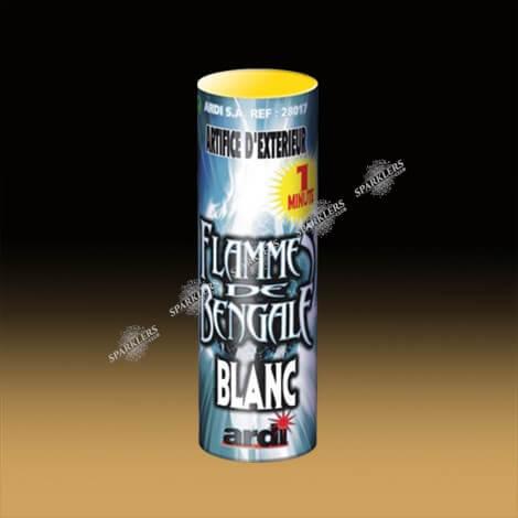 FLAMME DE BENGALE BLANC 1 MN
