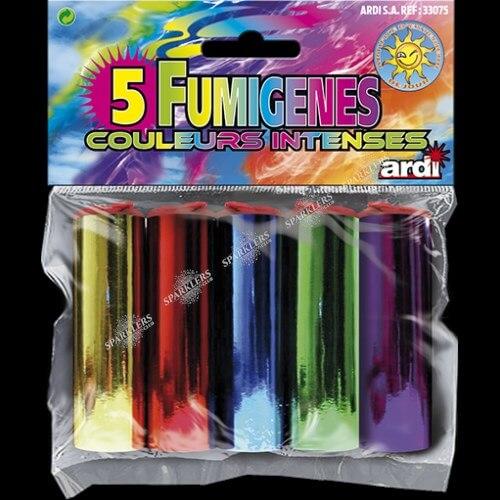 Assortiment de 5 fumigènes intenses 1 minute