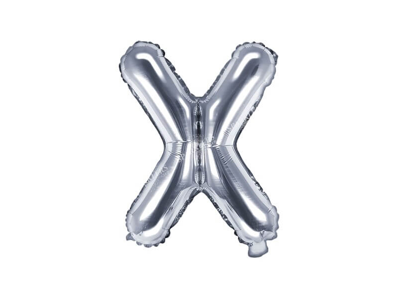 Ballon Lettre X argent