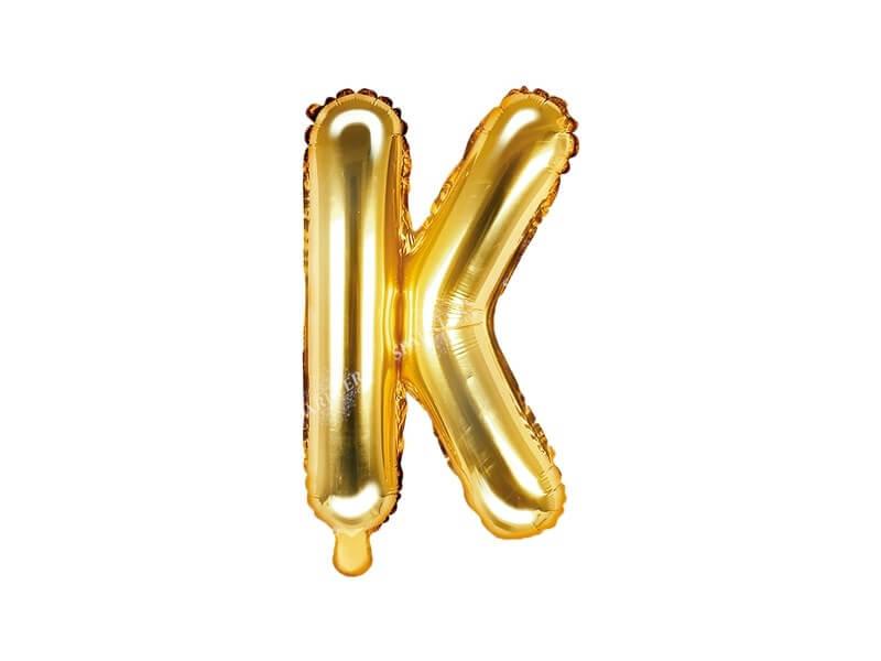 Ballon Lettre K Or