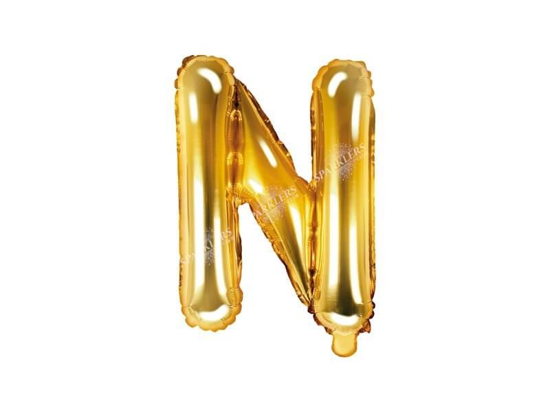 Ballon Lettre N Or