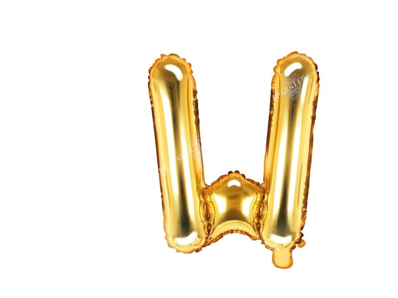 Ballon Lettre W Or