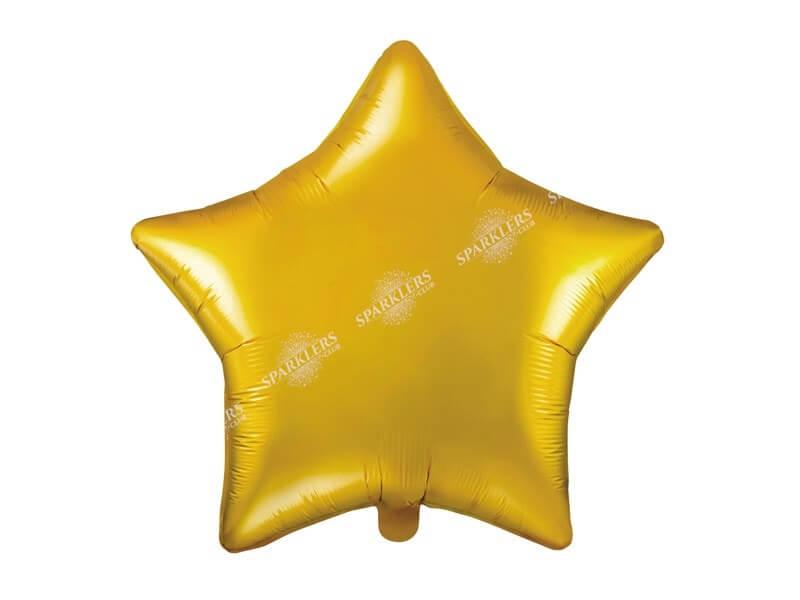 Ballon Étoile métallique Or 48cm