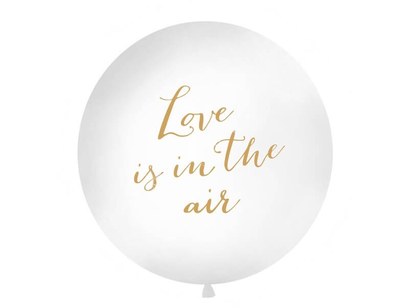 Ballon Géant 100cm Love is in the air Or