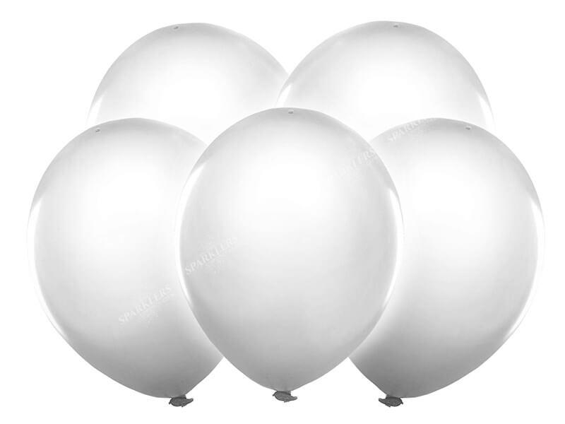Ballons LED BLANC (Lot de 5)