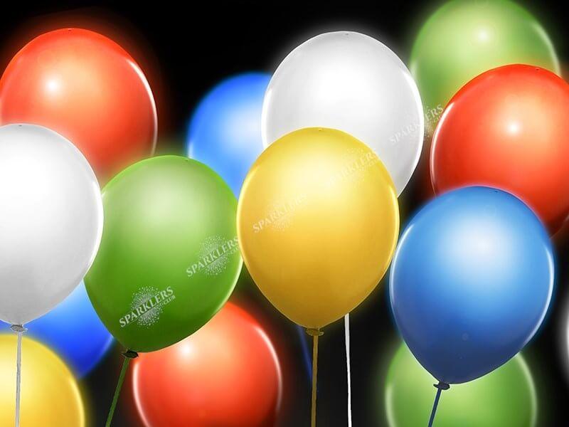 Ballons LED MULTICOLOR (Lot de 5)