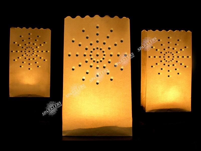 Lanterne photophore mariage motif soleil  x10