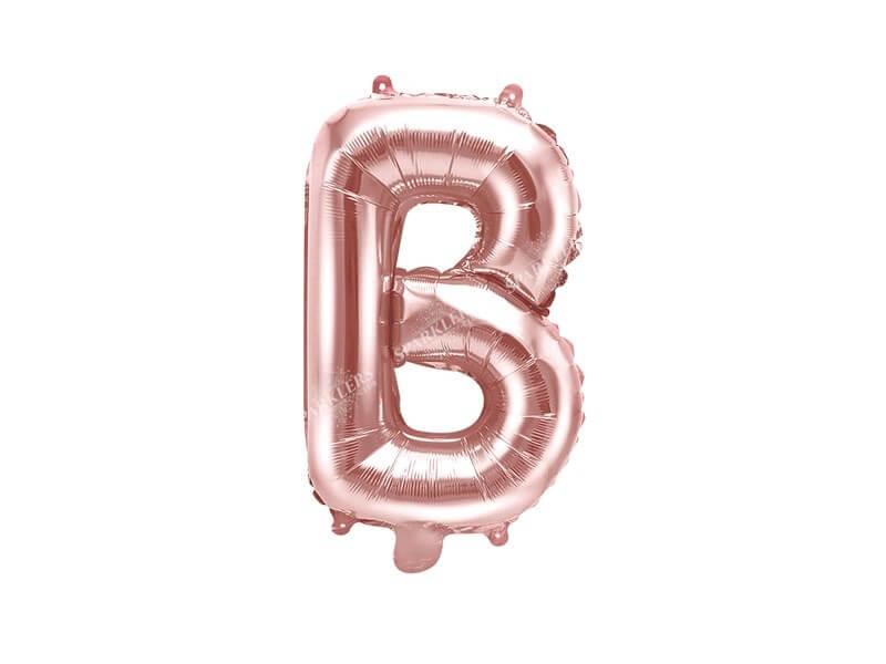Ballon Lettre B Or Rose