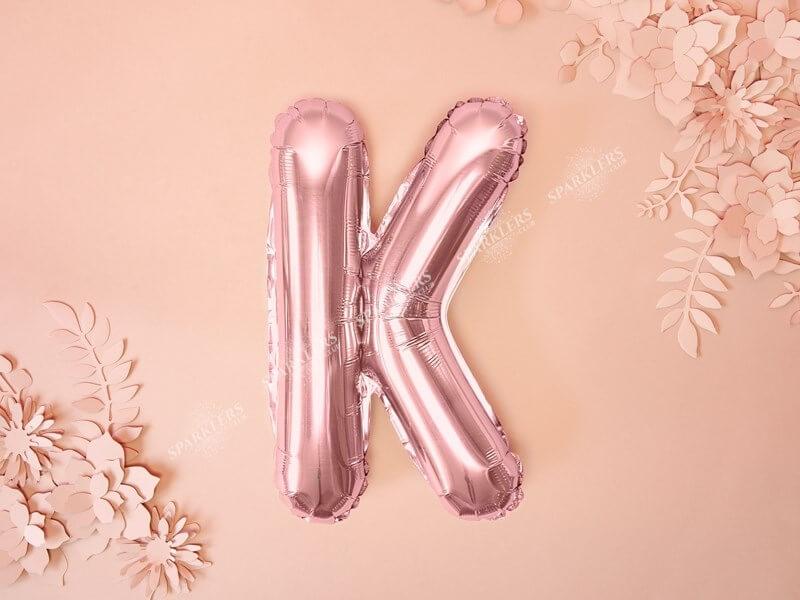 Ballon Lettre K Or Rose