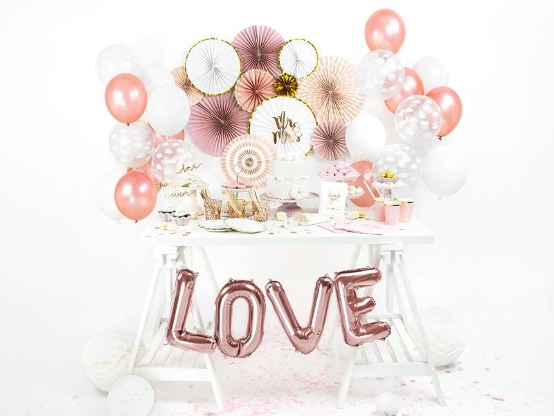 Ballon Lettre O Or Rose