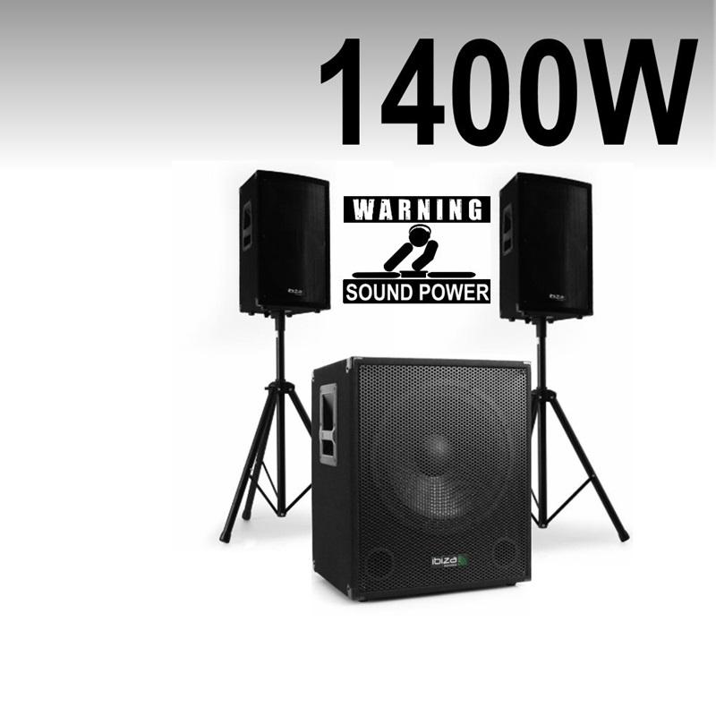 pack sono 1400w caisson sat pieds cube 1512 ibiza sound amplis enceintes ibiza light pas. Black Bedroom Furniture Sets. Home Design Ideas
