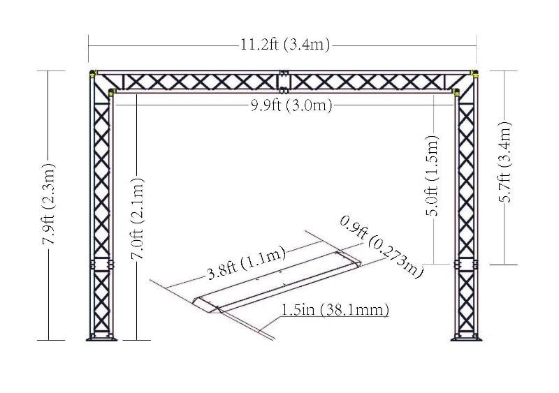 Portique Alu Lumi 232 Re Dj Truss 4 Afx Structures Pieds Et