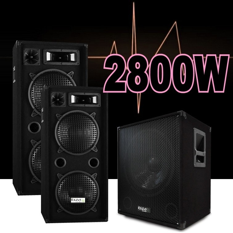 pack sono amplifi 2800w avec 2 enceintes 1000w le caisson amplis enceintes ibiza sound. Black Bedroom Furniture Sets. Home Design Ideas