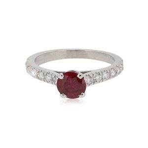 achat bague de fiançailles à Paris : Sunny - rubis 0.50ct-1.00ct