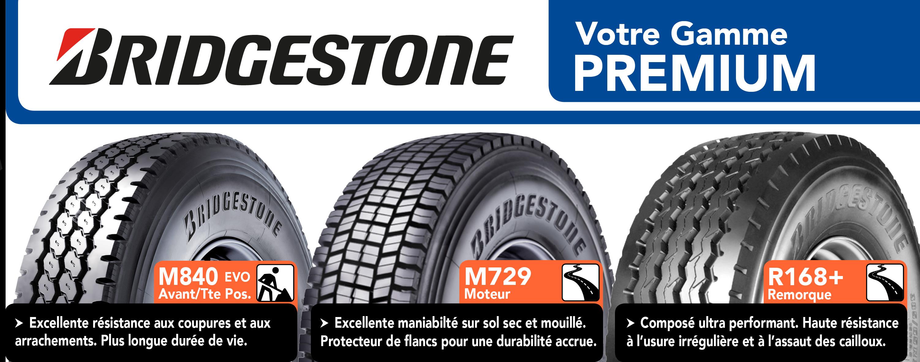 Pneus Poids Lourds Bridgestone droite bandeau