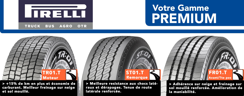 Pneus Poids Lourds Pirelli droite bandeau