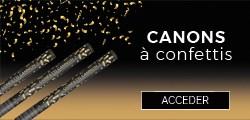 Canons à confettis pas cher - Sparklers Club